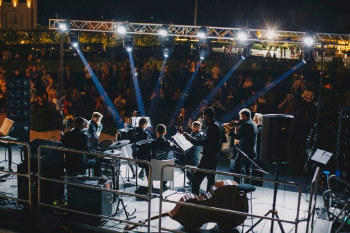 Open air concert. Public annual events and outdoor concerts.